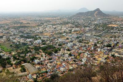 Tiruchengodu City View from Top of Hill