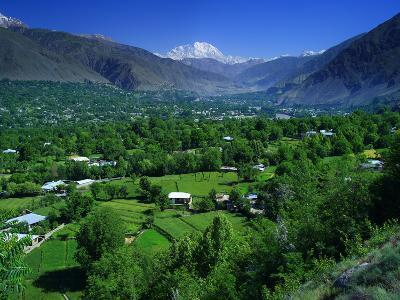 Chitral City with Tirich Mir.