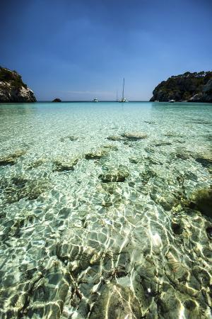 Spain, Menorca, View of Cala Macarella