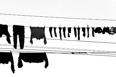 Drying Laundry on Two Clothesline
