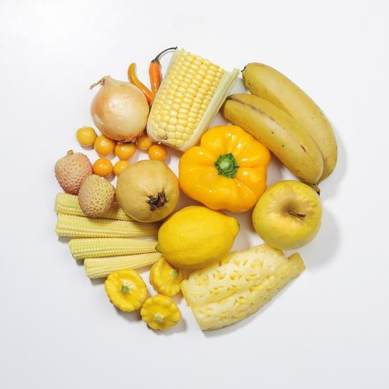 A Selection of Yellow Fruits & Vegetables. Photographic