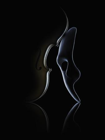 A Mask and a Violin.