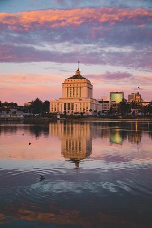 Peaceful Morning Reflections, Lake Merritt, Oakland California