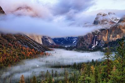 Presence, Clearing Storm and Fog at Tunnel View, Yosemite National Park