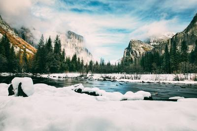 Mid Winter at Classic Valley View, Yosemite National Park, California