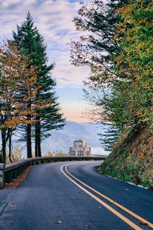 The Road to Vista House, Columbia River Gorge, Oregon
