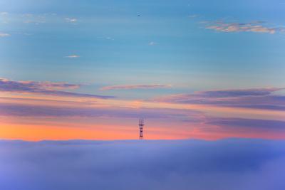 Sutro Tower Above the Fog - San Francisco, Golden Gate Bridge