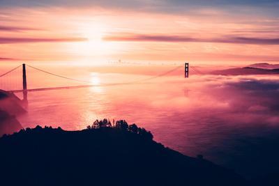 Drifting Fog Over Golden Gate and San Francisco