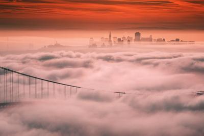 Sweet Fog City, Golden Gate Bridge, San Francisco Bay Area Sunrise