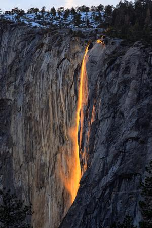 As Fire Falls, Firefall, Horsetail Falls, Yosemite National Park, Rare Light