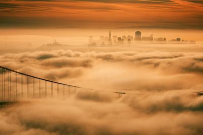 Fog City Mood, Golden Gate Bridge, San Francisco Bay Area Sunrise