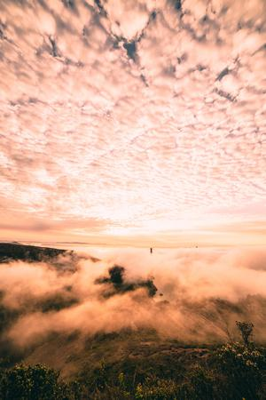 Fog and Cloud Chaos at Golden Gate Bridge, San Francisco