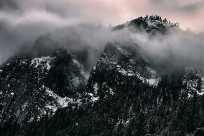 Misty Moody Yosemite Valley, Yosemite National Park, California