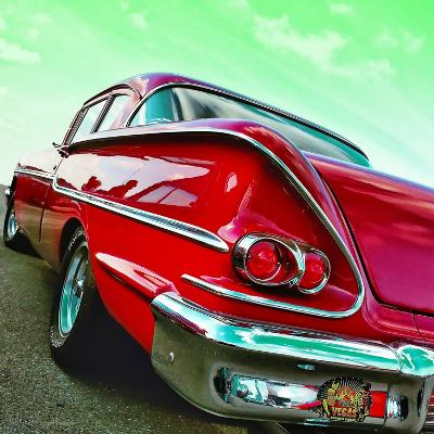 Vintage Car in America Rear View