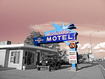 Vintage Neon Motel Sign in America