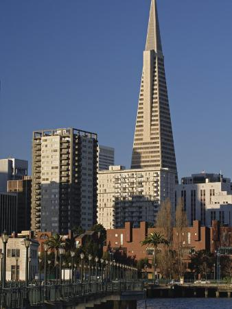 Transamerica Pyramid and Financial District from Pier 9, San Francisco, California