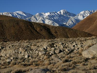 Fault Scarp from an 1872 Earthquake, Lone Pine, California, USA