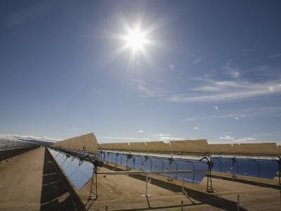 Solar Panels for Electricity Generation, Mojave Desert, California, USA