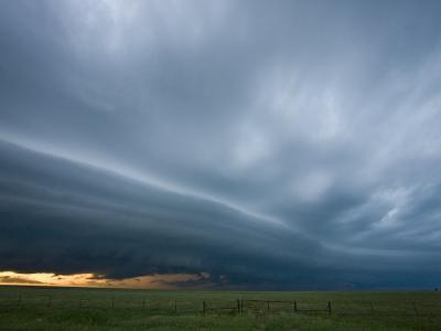 Arcus Clouds from Storms in Western Kansas, USA