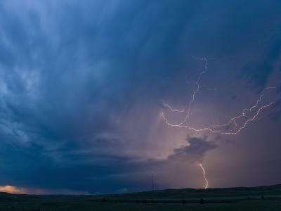 Cloud to Ground Lightning from a Central Nebraska Supercell