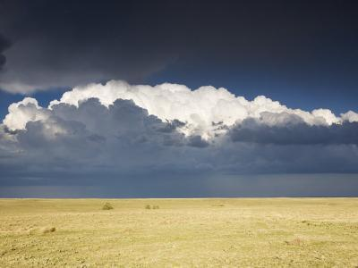 Pawnee National Grasslands, with a Thunderstorm in the Background, Colorado, USA