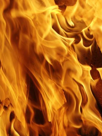Close-Up of Fire Flames, Jodhpur, India