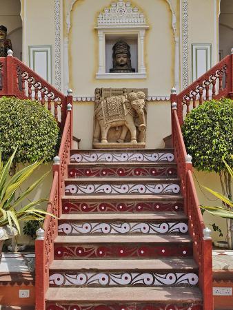 Ornate Decoration, Raj Palace Hotel, Jaipur, India
