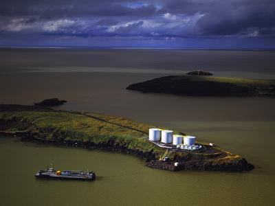 The Summer Fuel Barge Making its Delivery at St. Michaels in Western Alaska