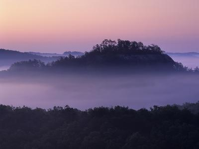 Dawn View of Raven Rock, Red River Gorge Geological Area, Daniel Boone National Forest, Kentucky