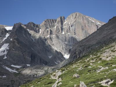 East Face of Longs Peak, a Glacial Headwall in the Rocky Mountains, Colorado, USA