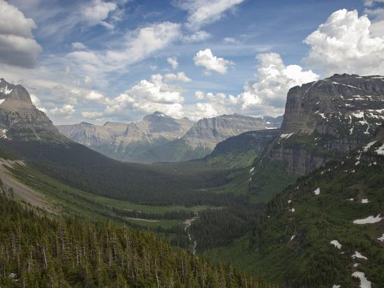 Glacial U Shaped Valley Glacier National Park Montana