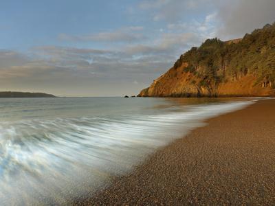 Wave Action on a Sandy Beach Near San Francisco, California, USA