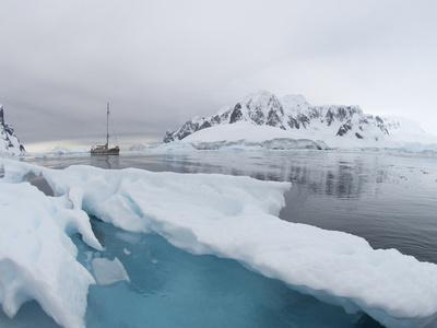 Ship in the Waters Off the Antarctica