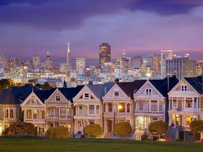 Alamo Square and the Victorian Style Painted Ladies Homes, San Francisco, California, USA