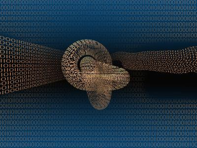 Illustration of a Digital Knot