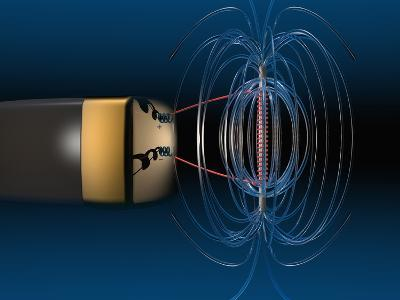 Three Dimensional Representation of the Magnetic Field of a Simple Electromagnet