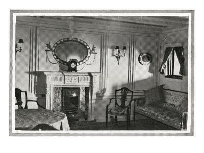 A Photograph of a Private Suite on Titanic.