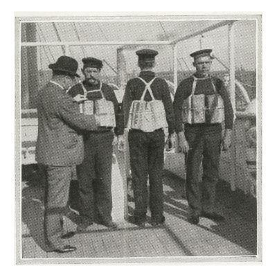 Examining Lifebelts on Titanic