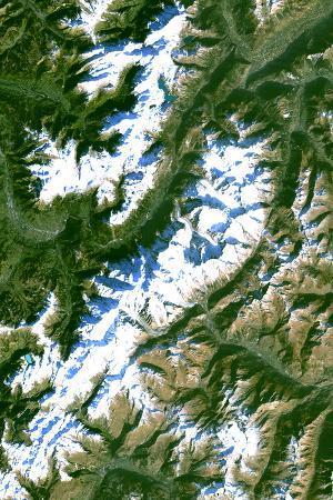 Satellite Image of Chamonix-Mont Blanc, France