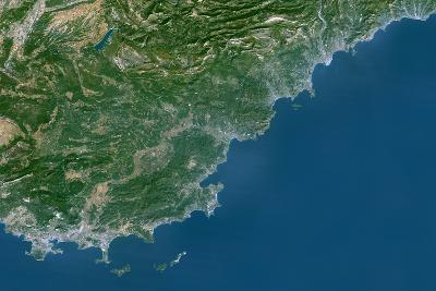 Satellite Image of French Riviera, France