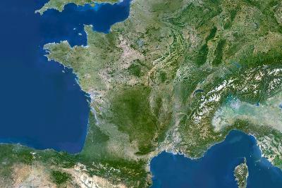 Satellite Image of France
