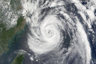 Satellite Image of Typhoon Nari, Taiwan, China, Asia, in 2001