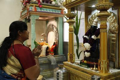 Diwali Celebration in a Ganesh Temple