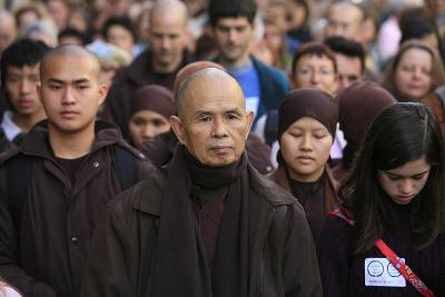Walking Meditation Led by Thich Nhat Hanh in Paris