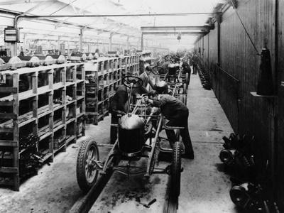Assembly Line of the Morris Bullnose, Cowley, Oxfordshire, 1925