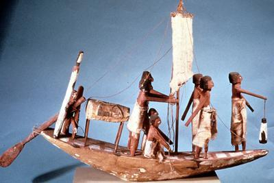 Funerary Boat of Painted Wood, 9th Dynasty, Ancient Egypt, 2232-2140 BC