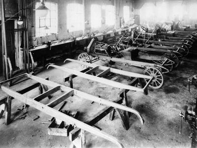 Chassis Assembly at the Iris Car Works, Willesden, London, C1907