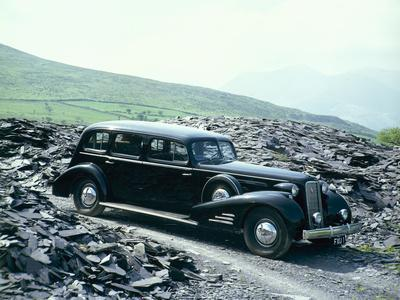A 1937 Cadillac V16 Sedan, Photographed Among Piles of Slate