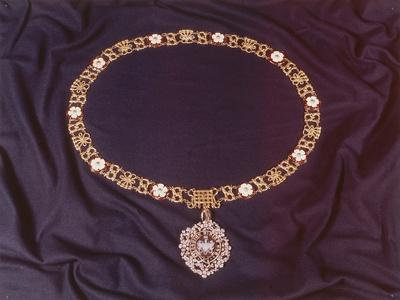 View of the Jewelled Collar Worn by the Lord Mayor of London, C1978