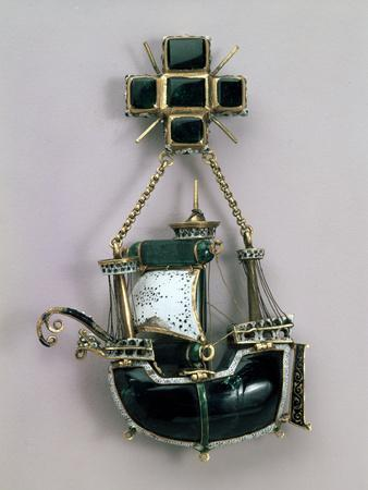 Pendant in Form of a Ship, Early16th Century